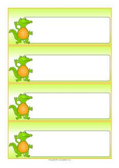 Crocodile-themed editable communication slips