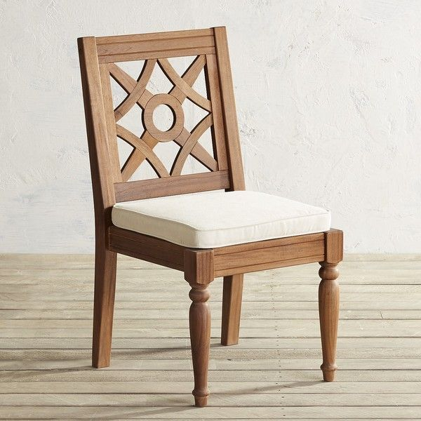 pier 1 imports chiara natural armless dining chair 204 liked on polyvore featuring