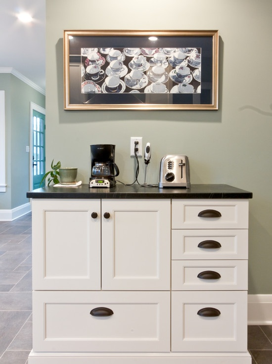 17 best images about kitchen coffee bar ideas on pinterest for Kitchen coffee bar cabinets
