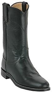 Justin® Ladies Black Kipskin Classic Roper Boots