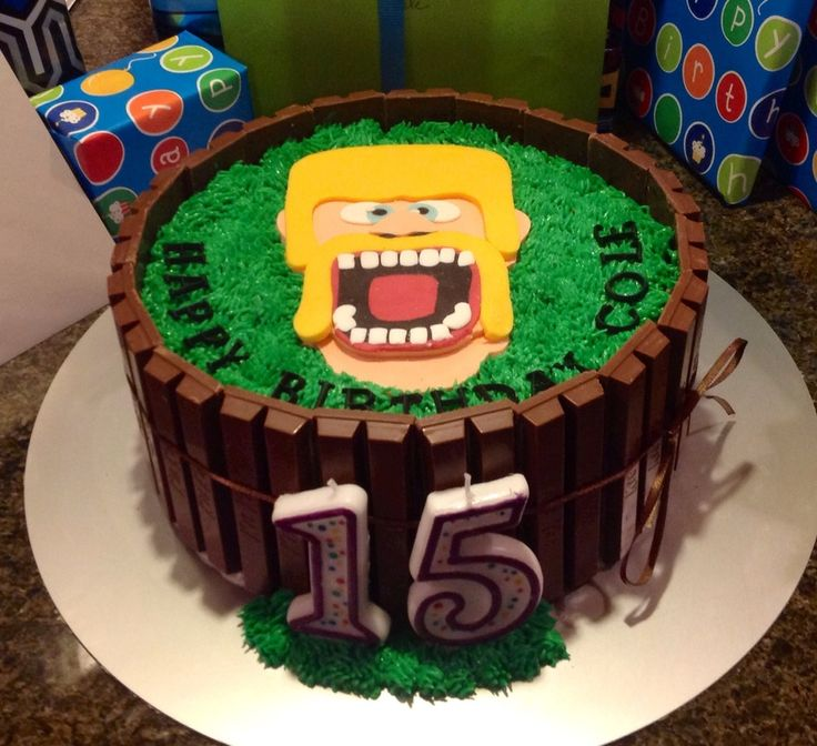 Clash Of Clans Kit Kat Cake For Birthday on Cake Central
