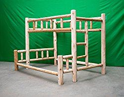 Midwest Log Furniture – Premium Log Bunkbed – Full Over Queen