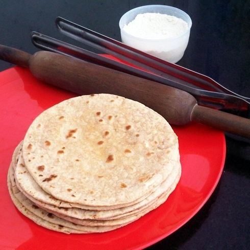 The perfect chapati recipe - pro secrets to make chapati easily, round and even and beautifully fluffed.
