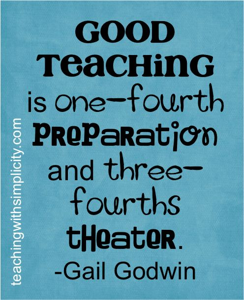 This is the truest thing I have ever read about GOOD teaching.