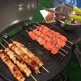 Foodie Quine: BBQ Sticky Scottish Salmon Kebabs with Sweet Chilli & Honey at a Salmonliscious #RHS2015