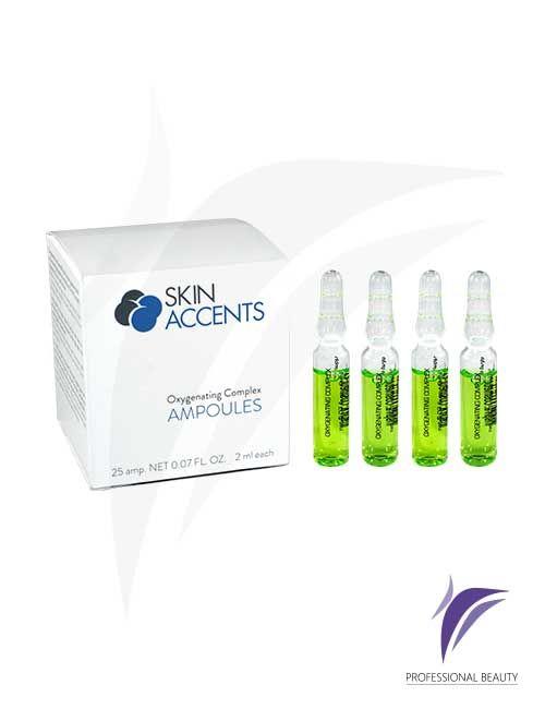 Complejo Oxigenante Caja x25 Ampolletas de 2ml: El complejo oxigenante son sustancias activas concentradas que mejoran la circulación cutánea permitiendo una mayor oxigenación. Recomendado para pieles cansadas, fatigadas y falta de oxígeno.