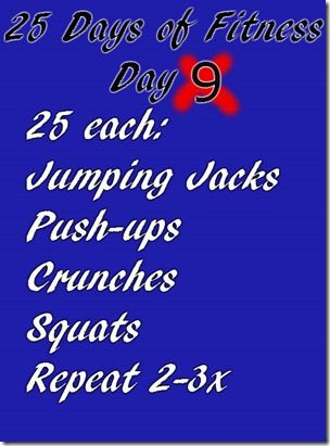 25 Days of Fitness–Day 9 | Run Eat Repeat