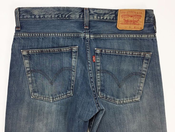 Levis 507 W32 L34 tg 46 jeans uomo dritto blu levi's boyfriend carota vintage