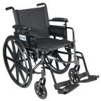 Drive Cirrus IV Lightweight Dual Axle Wheelchair with Adjustable Arms, Detachable Desk Arms, Swing Away Footrests, 16 in. Seat