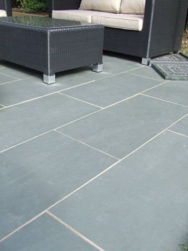 Grey Blue Brazil Slate Paving Patio Garden Slab Tiles | eBay