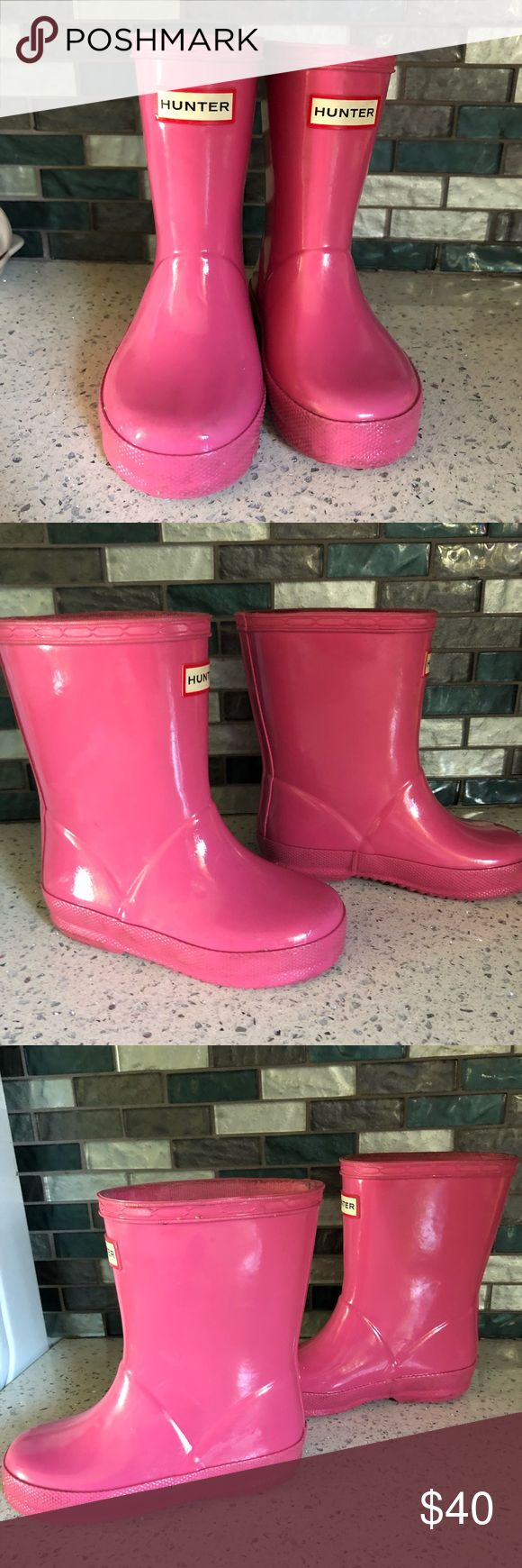 Toddler girls Hunters Toddler girls hunter boots. Gently worn. hunters Shoes Rain & Snow Boots