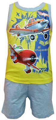 Nové - Žluto-šedé letní pyžamo s Dustym zn. Disney
