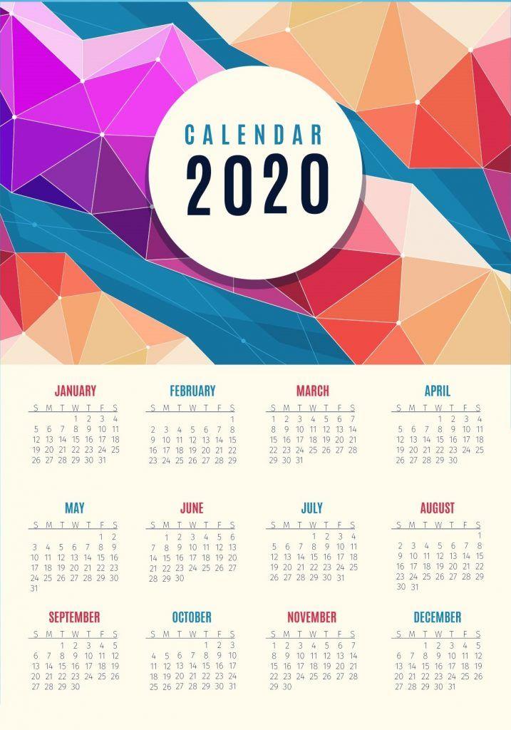 free yearly 2020 calendar