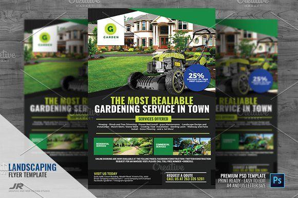 Pin On Garden Services Flyer