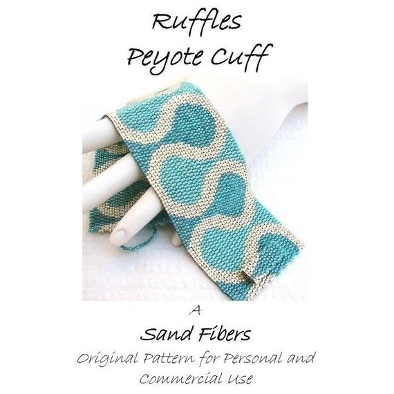 Ruffles Peyote Cuff   For Personal AND Commercial by SandFibers, $15.00