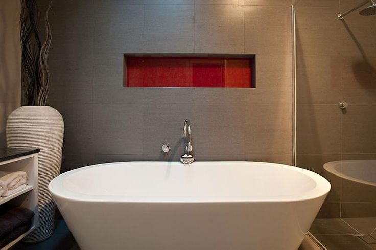 donvale red freestanding bath bathroom