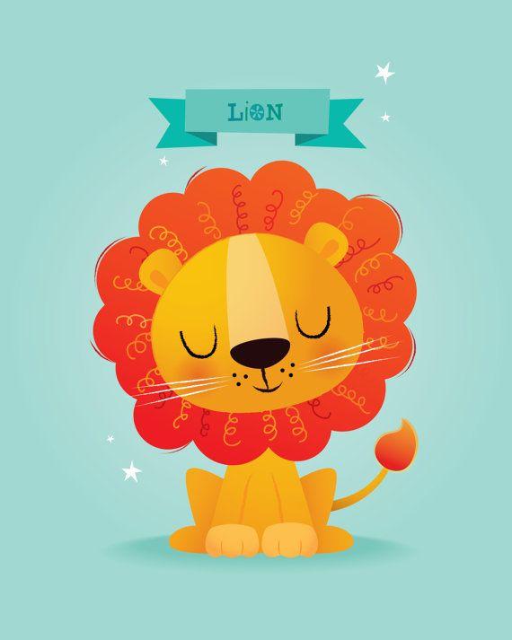 Kinder-Kunst Safari-Tiere-set von IreneGoughPrints auf Etsy