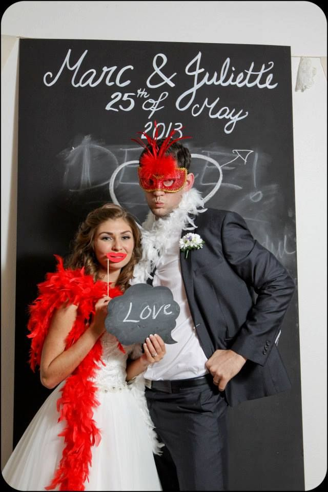 Blackboard Photobooth wedding love