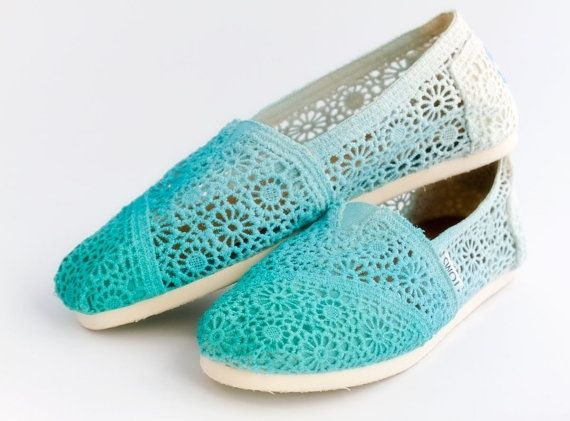 I found 'Dip Dye Crochet Ombre TOMS Shoes Pretty Womens Cute Teen' on Wish, check it out!