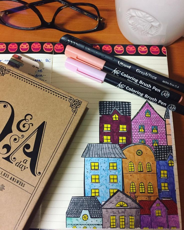 "Páči sa mi to: 32, komentáre: 1 – Dominika Imrichová (@ms_domca) na Instagrame: ""Cute houses are a MUST! 🏠🍁🍂 🍂🍁 #journal #journaling #journaladdict #creativejournaling #doodle…"""