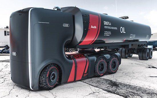 Audi truck voorziet Audi dealers van de broodnodige olie