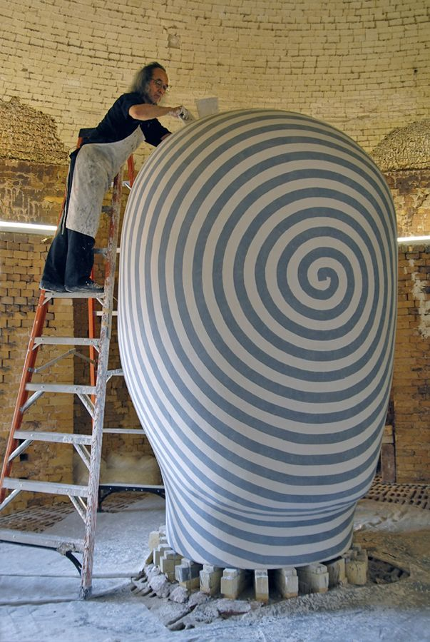 Jun Kaneko is a Japanese ceramic artist living in Omaha, Nebraska, in the United States. In 1942 he was born in Nagoya, Japan, where he studied painting during his high school years