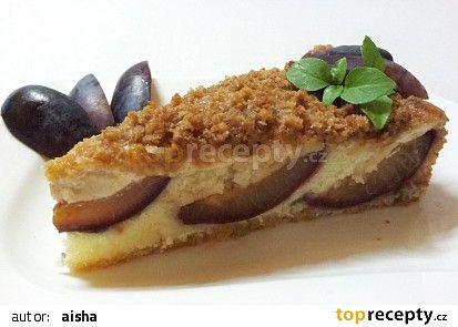 Svestkovy kolac s vanilkovym kremem a skorici recept - TopRecepty.cz
