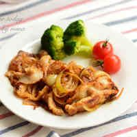 豚ロース薄切り肉でやわらか生姜焼き