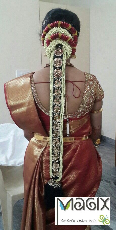 South Indian Bridal Hairstyle Hair And Makeup By Magix