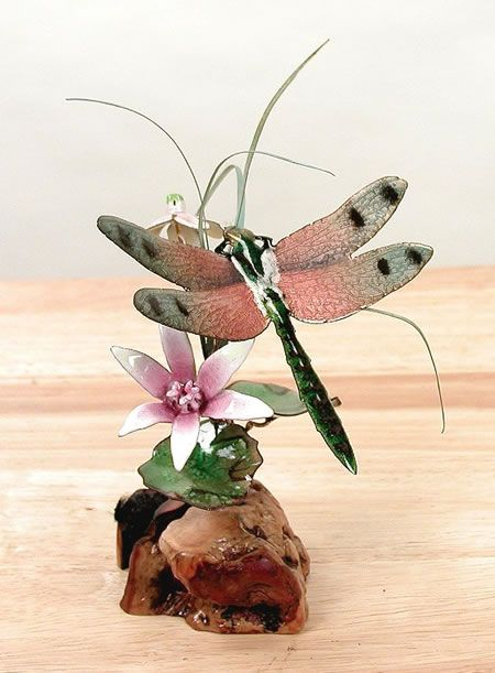 Dragonfly Pink Winged And Flowers Statue Sculpture By Bovano Of Cheshire Discover Thousands Home
