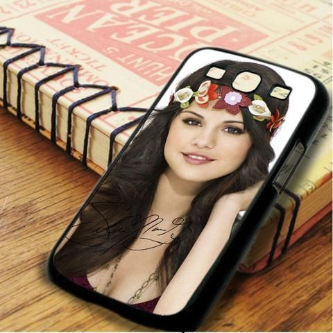 Selena Gomez Cute Flowers Signature Samsung Galaxy S3 Case