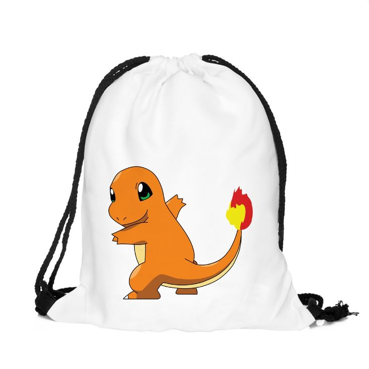 3D Printing Pokemon Backpack Charmander Cartoon Women's Mochila Escolar Game Drawstring Bag Men's Backpack for Teenagers //Price: $US $4.90 & FREE Shipping //     #beauty