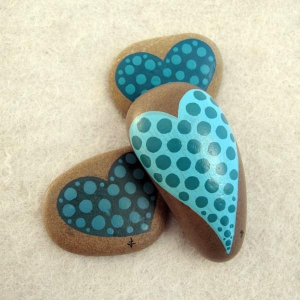 painted stone / blue valentine / aegean 6. $40.00, via Etsy.