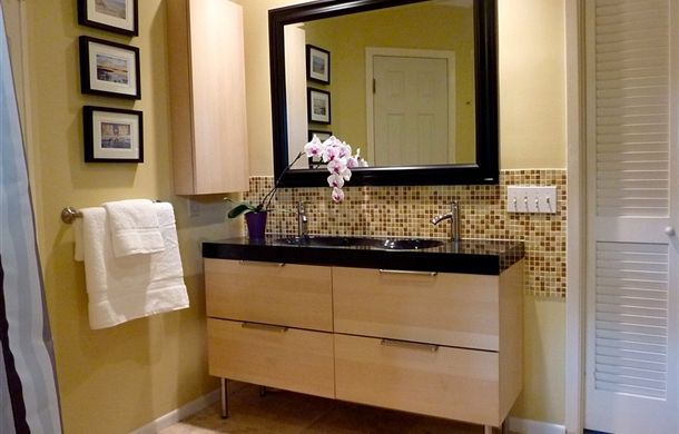 Check out the IKEA GODMORGON sink cabinet with DALKSKAR faucet shared by Marie on IKEA Share Space!