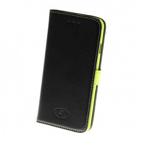 Apple iPhone 6 Musta / Lime Insmat Nahkakotelo  http://puhelimenkuoret.fi/tuote/apple-iphone-6-musta-lime-insmat-nahkakotelo/