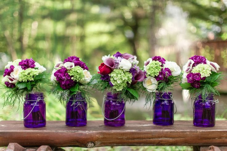 GREEN AND PURPLE OUTDOOR WEDDING