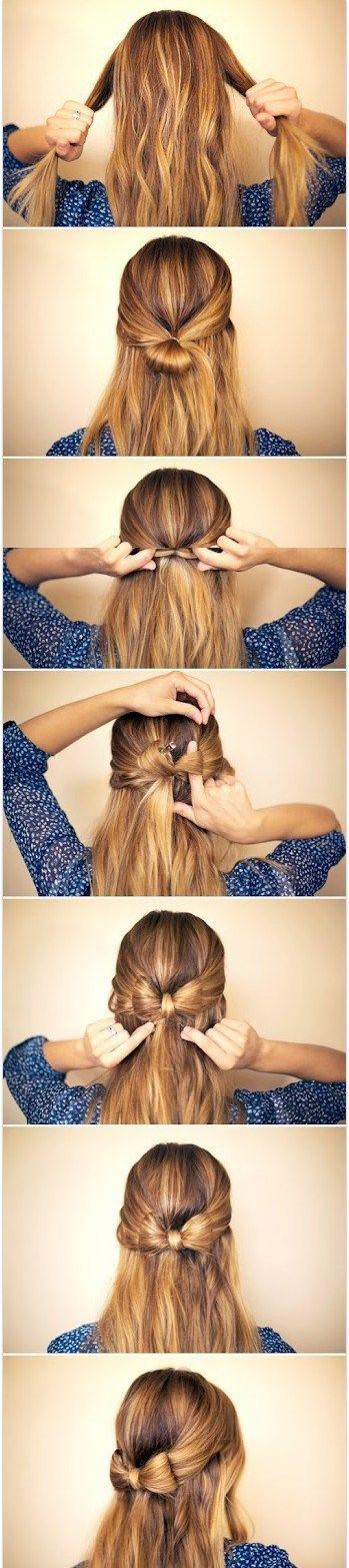 自髪で作るリボンが可愛すぎるよぉ!! 絶対マネしたい乙女度マックスなヘアアレンジを紹介しちゃいますっ♪ | Pouch[ポーチ]