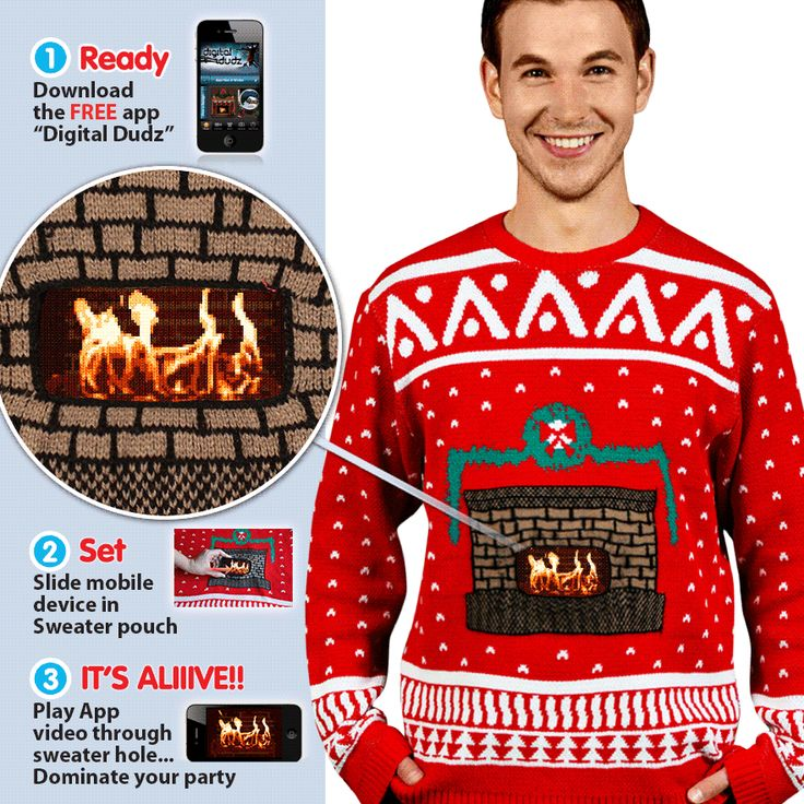 Ugly Christmas Sweaters with motion.