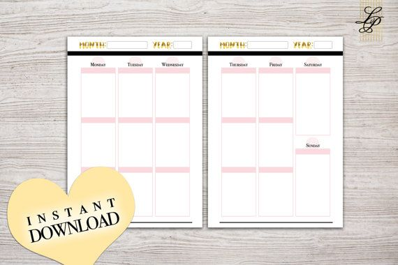 A5 Weekly Planner Printable  Undated  Erin Condren by LifePotion