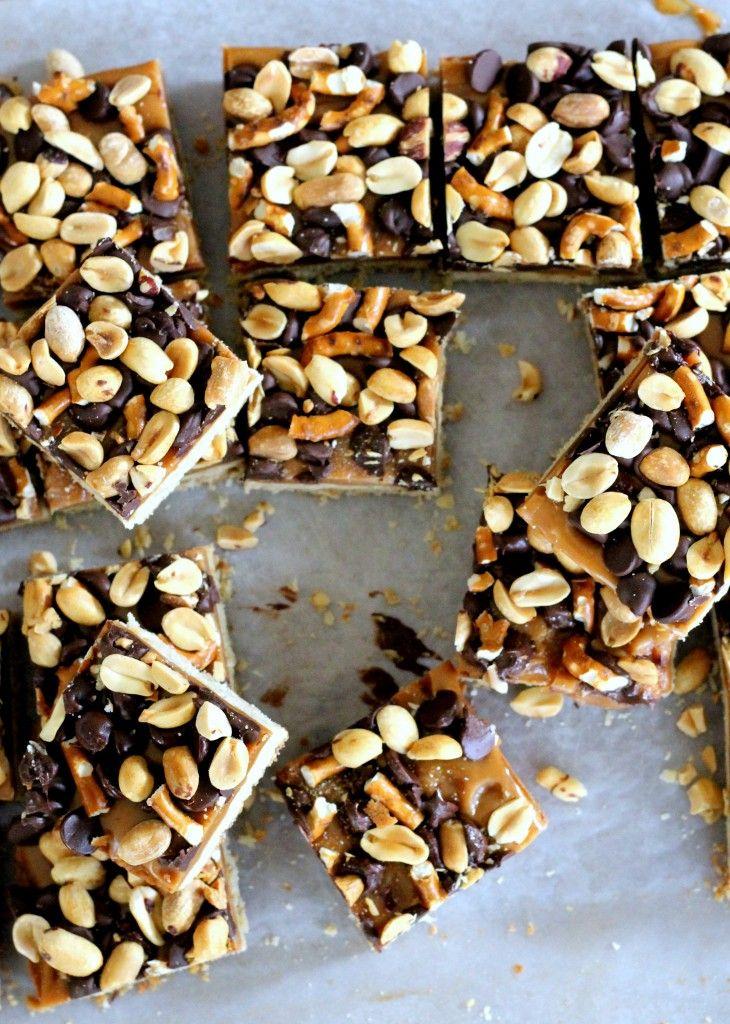 Fully Loaded Bars | Oat shortbread crust, peanut butter caramel ...