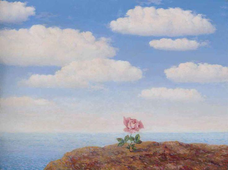 René Magritte (Belgian, 1898-1967), L'utopie [Utopia], 1945. Oil on canvas, 60.4 x 80.3 cm.