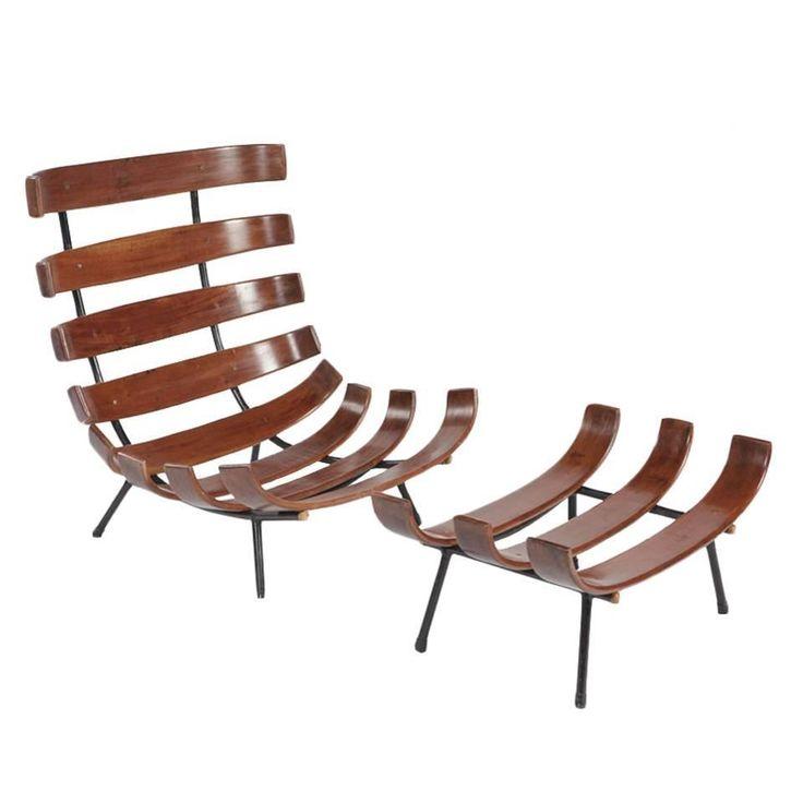 Brazilian Modern U201cCostelau201d Chair And Ottoman By Martin Eisler And Carlo  Hauner Amazing Ideas