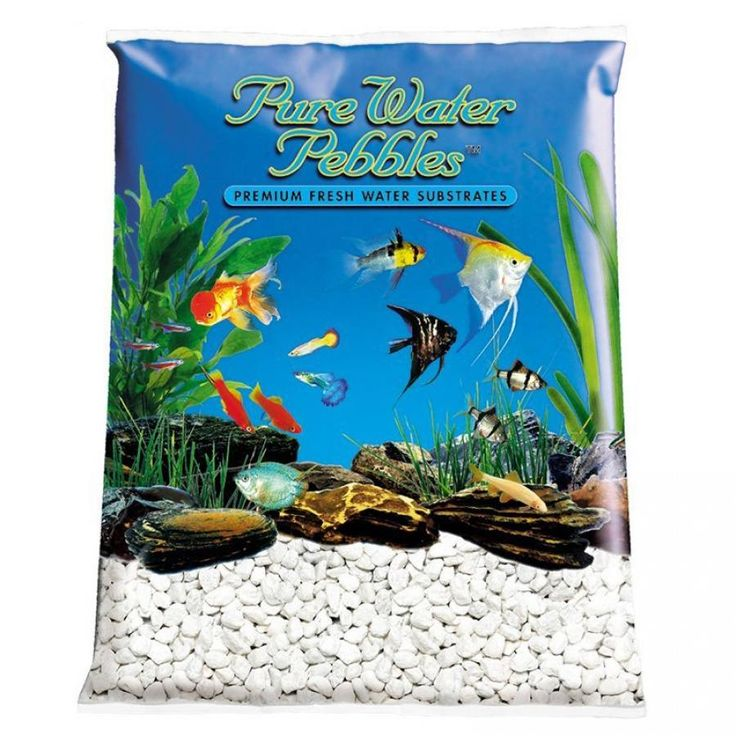 🐠 25lb Pure Water Pebbles Aquarium Gravel Snow White is a natural freshwater aquarium gravel substrate. Fish-safe 100% acrylic coating. Non-toxic and colorfast, will not alter aquarium chemistry. Ideal for aquariums, ponds, terrariums, crafts, landscaping