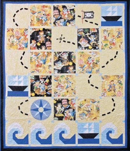 Baby Boys Puppy Pirates Quilt - Free PDF Pattern