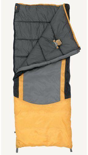 Eureka!  Kids Minnow 45-Degree Sleeping Bag Eureka,  Price: $29.98 + $6.99 shipping You Save: $10.01 (25%) http://www.amazon.com/gp/product/B000ETVVBE/ref=as_li_tl?ie=UTF8&camp=1789&creative=390957&creativeASIN=B000ETVVBE&linkCode=as2&tag=smabisonl-20&linkId=RSM6QLIEWBNW7G3T