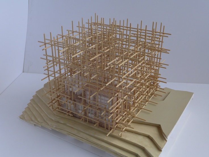 """Solo houses &  Sou Fujimoto / Presentation - Geometric forest  """"Simply put, this house is like a geometric forest."""""""