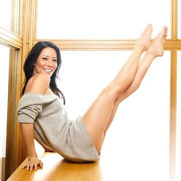 This is how the one-and-only Lucy Liu stays positive about working out.