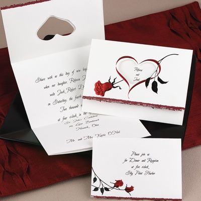 Beauty And The Beast Wedding Invitation Ideas