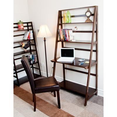 Simple Computer Desk Simplihome Acadian Ladder Shelf Desk Kd Axcamh009 Home Depot