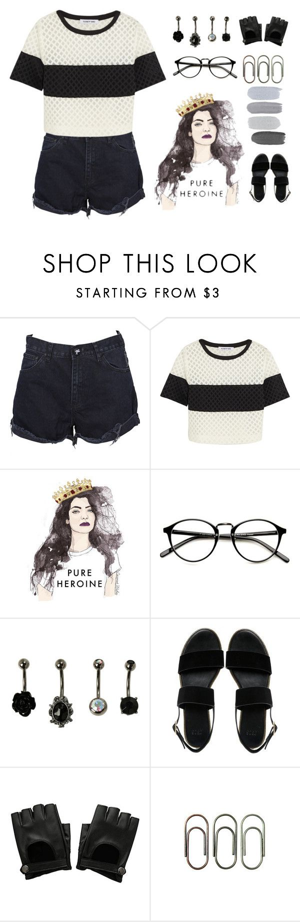 """""""// kissing the tar on the highway \\"""" by katherine3120 ❤ liked on Polyvore featuring OneTeaspoon, Elizabeth and James, ASOS and Clips"""